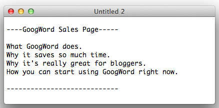sales page outline 1