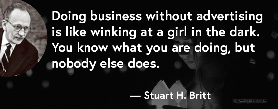 Stuart H Britt advertising quote