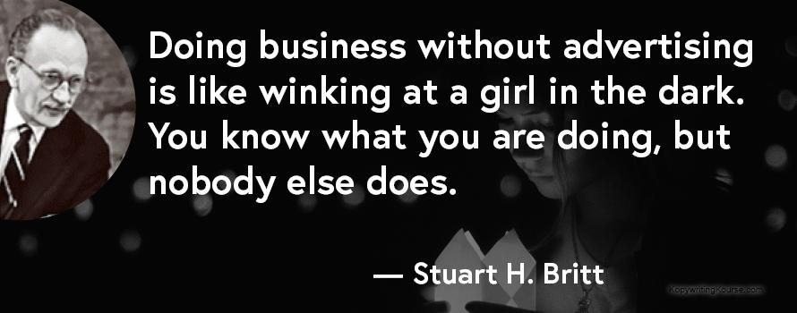 Stuart H Britt advertising quote