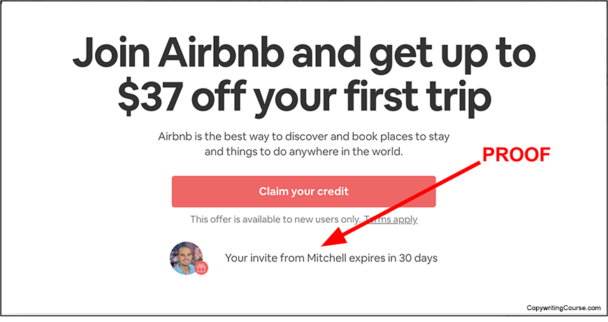 airbnb proof