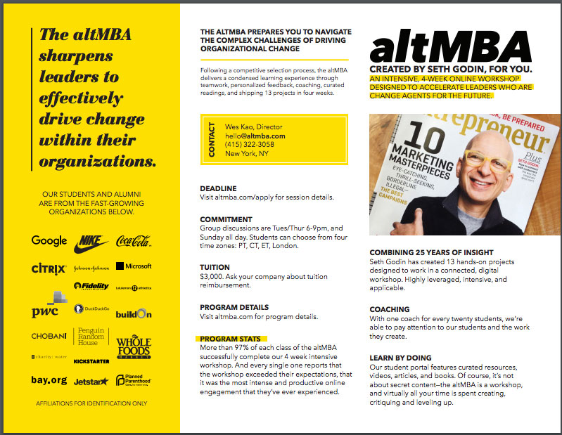 AltMBA One Pager