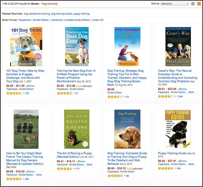 Amazon Dog Example