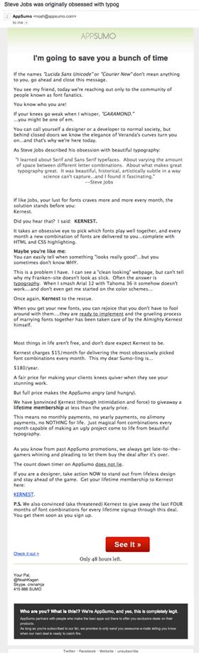 appsumo-kernest-neville-email