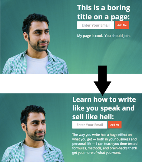 Before and After Editing Webpage