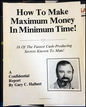 Gary Halbert Book - Maximum Money In Minimum Time