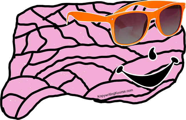 Relaxed Brain with Sunglasses