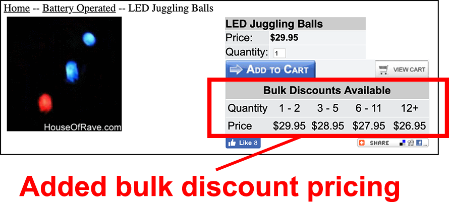 Bulk Discount Pricing HouseofRave