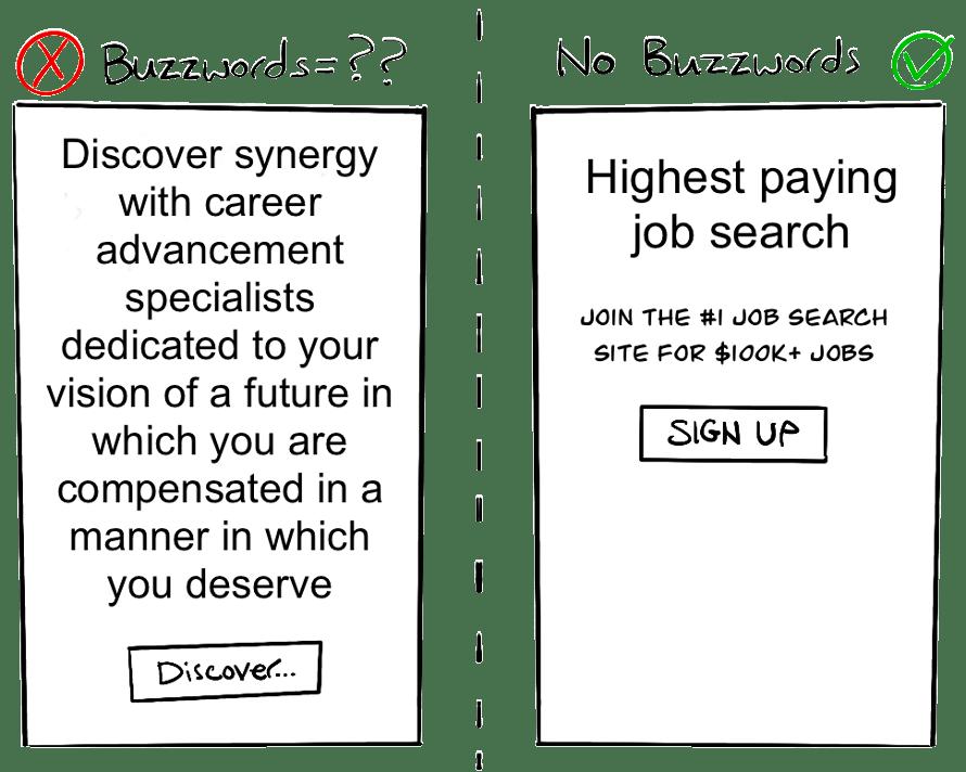 buzzword vs no buzzwords