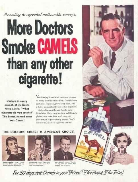 camels print ad