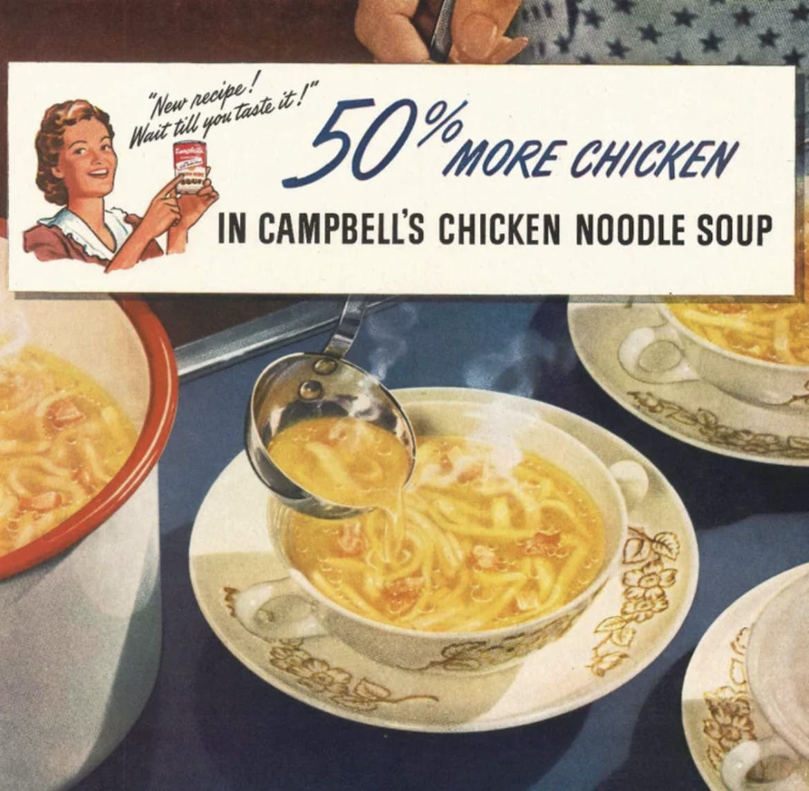 campbells more chicken soup ad