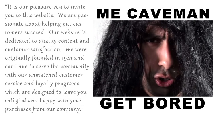 Caveman Bored