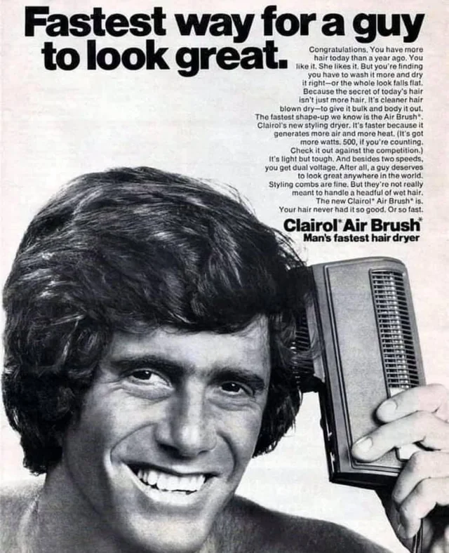 clairol mens air brush ad