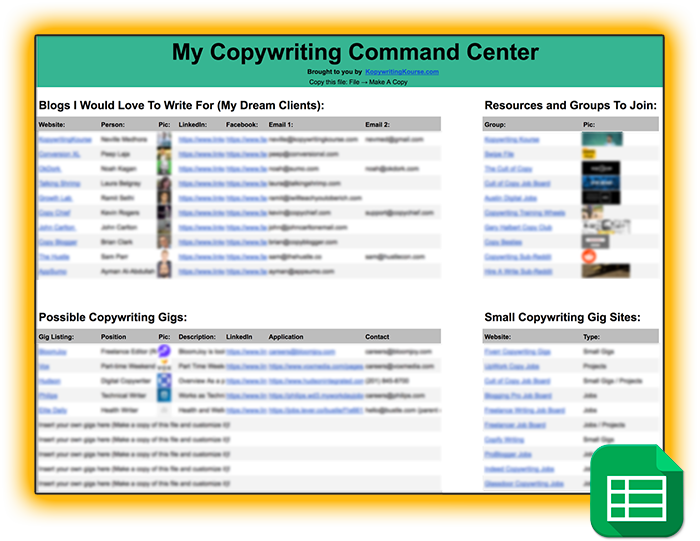copy command center spreadsheet download