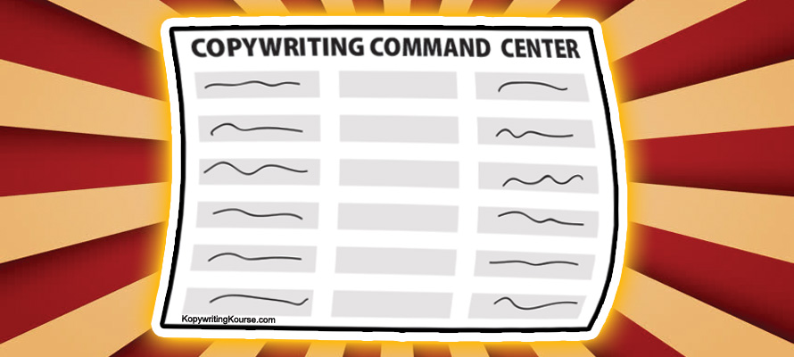 Copywriting Command Center Spreadsheet