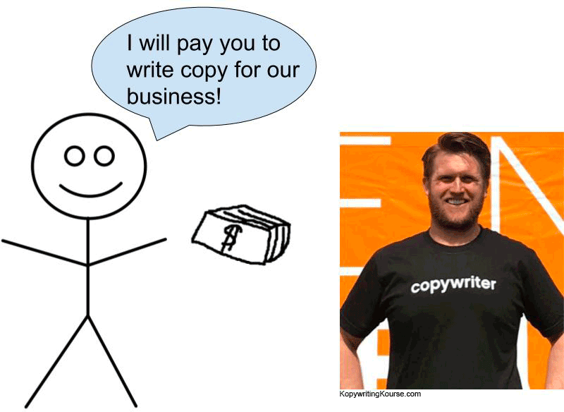 copywrting clients tshirt
