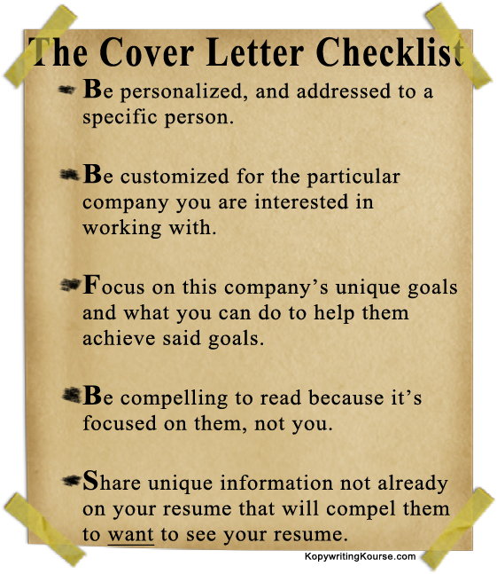 Captivating Cover Letter Checklist