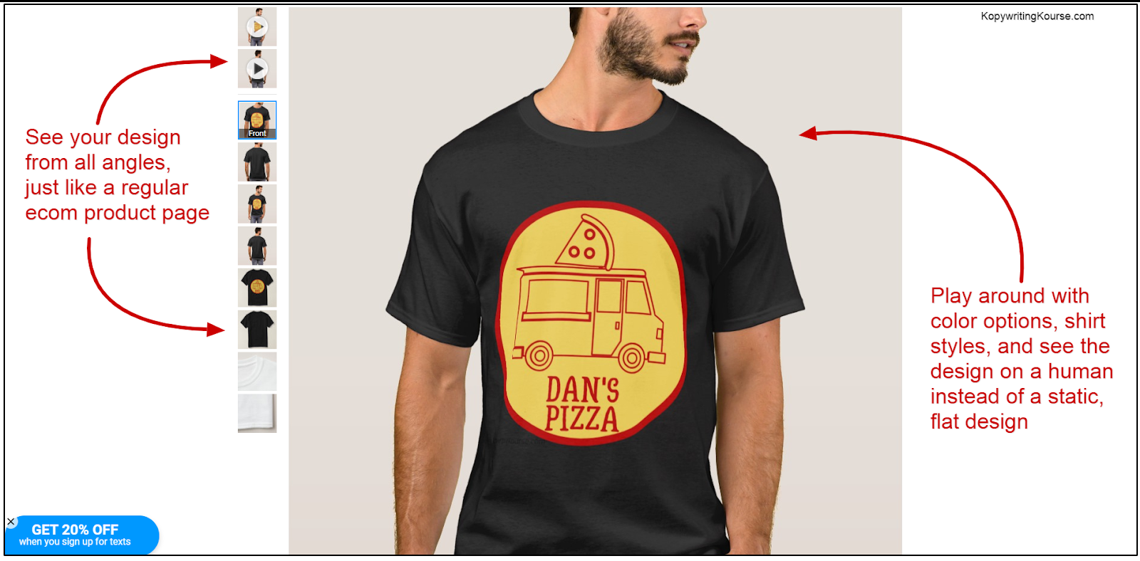 dans pizza truck tshirt zazzle