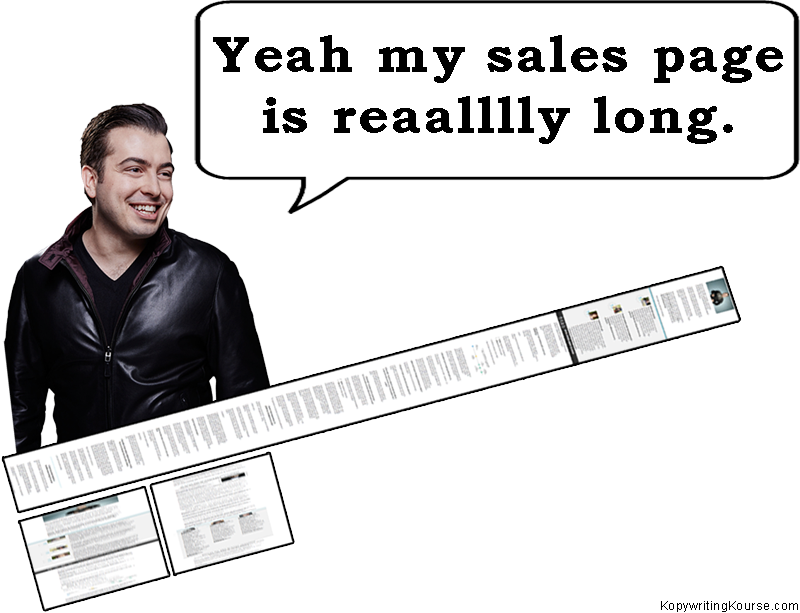Derek Halpern has a really long sales page