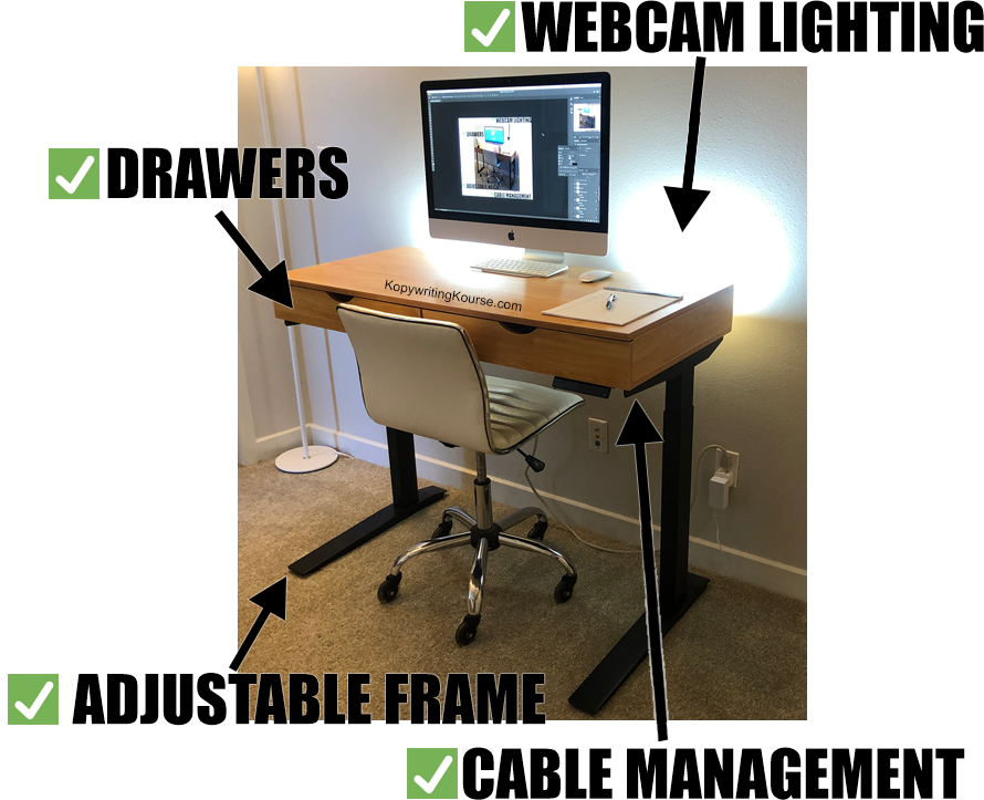 desk diy almost perfect frame