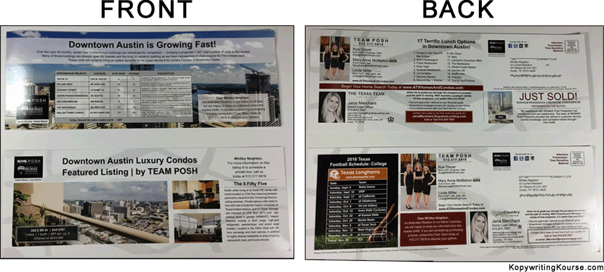 Direct Mail Condo Real Estate Team Posh
