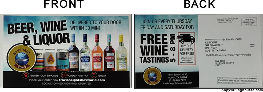 Direct Mail Liquor Flyer