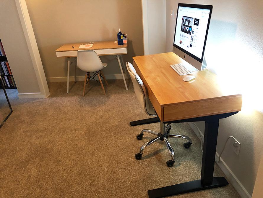 diy desk make standing frame add