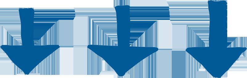Blue Down Arrows Scroll
