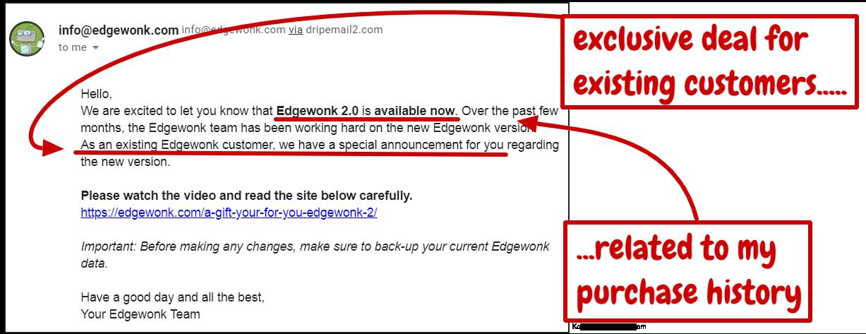 edgewonk customer retention email