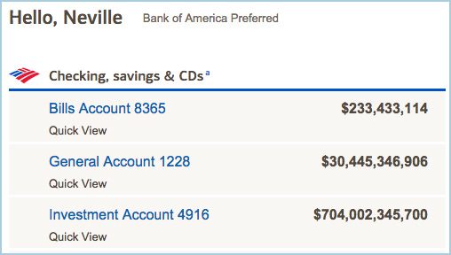 Edited bank account balance