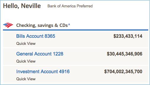 Edited bank account balance
