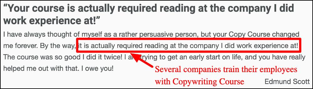 edmund makes team take copywriting course