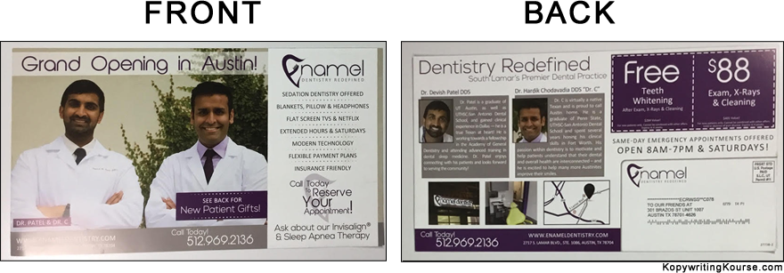 Enamel Dentistry Mail Flyer