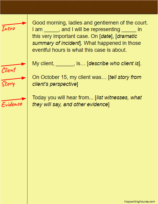 How To Write An Opening Statement Kopywriting Kourse