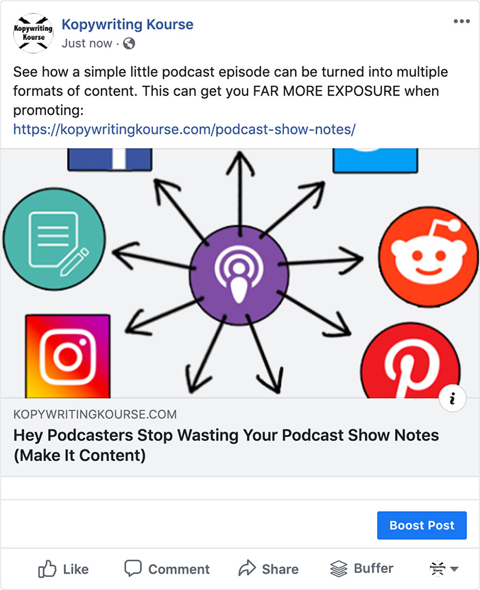 Facebook Podcast Promotion
