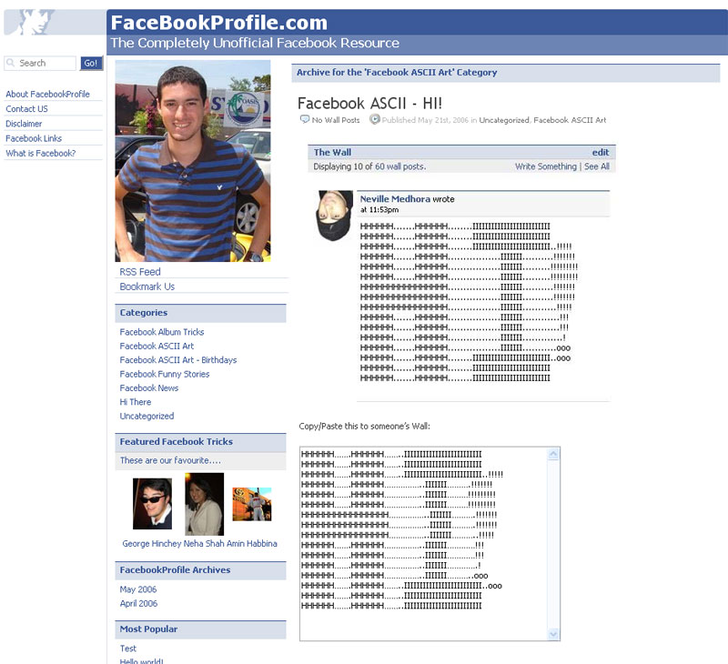 facebookprofile screenshot