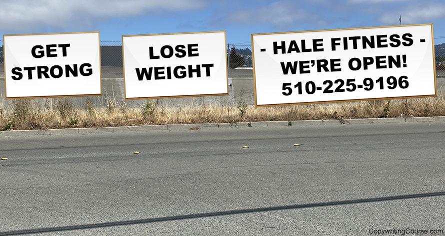 freeway sign mockup