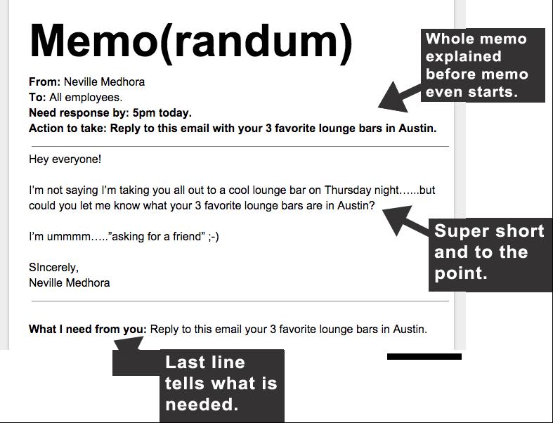 Good Memo Example