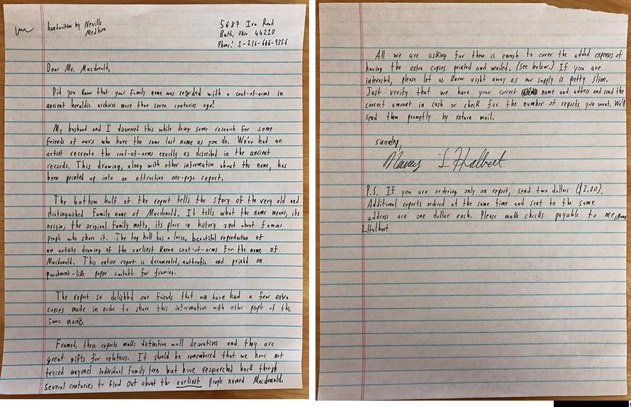 Gary Halbert Copywork Coat of Arms Letter Handwritten
