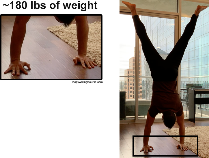 handstand weight on wrists