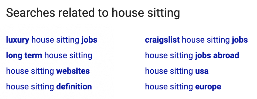 house sitting google search