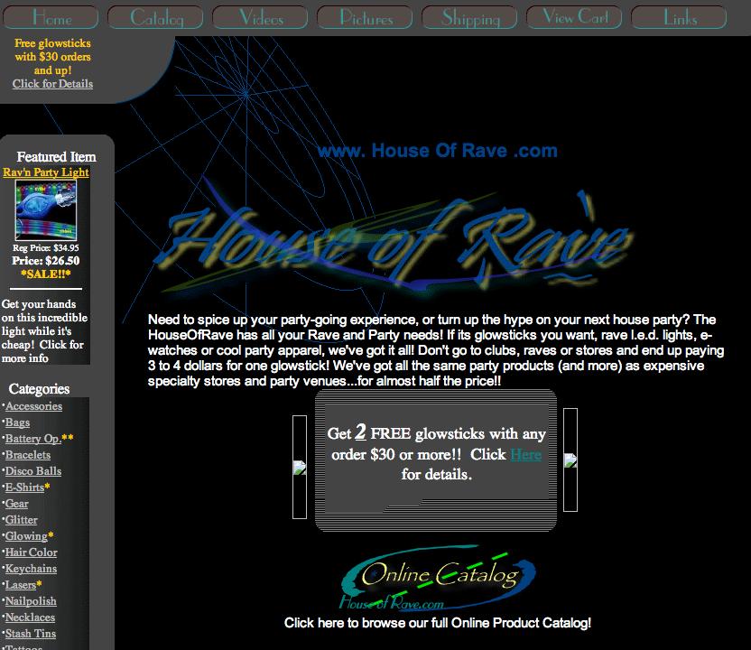 houseofrave old screenshot