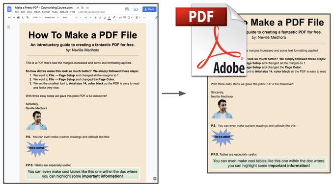 how to make a pdf from google docs