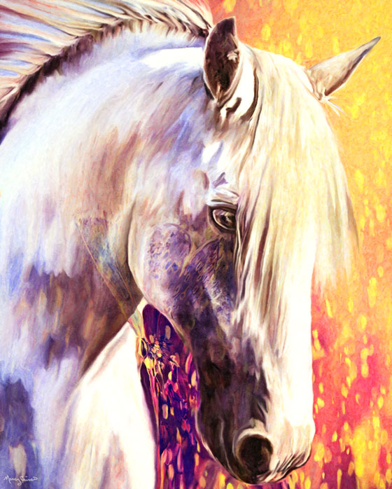 horse art marcy portrait