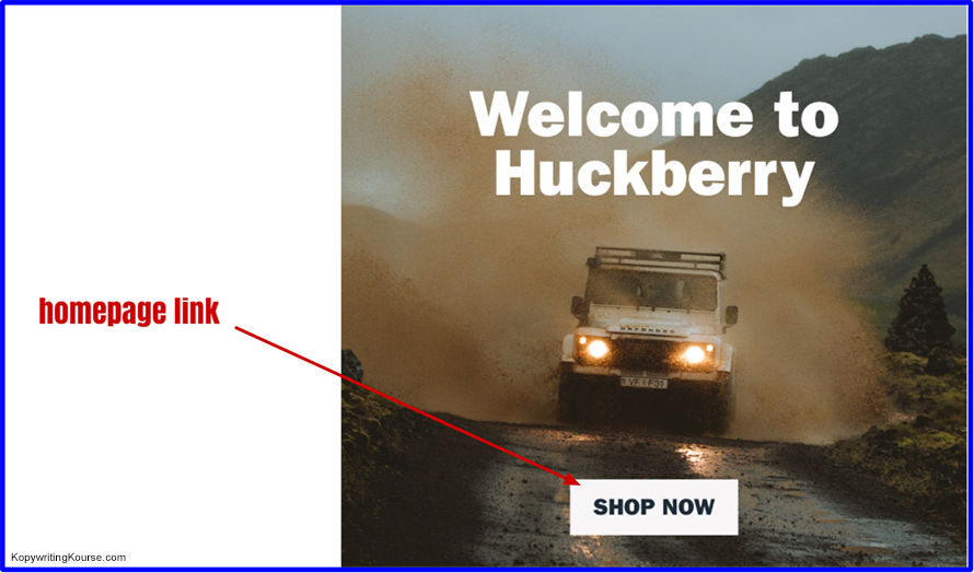 huckberry welcome homepage link