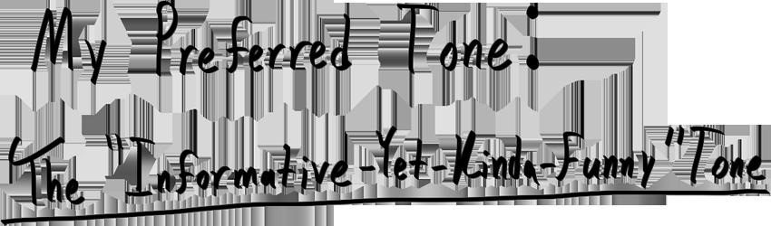 Informative Tone of Voice