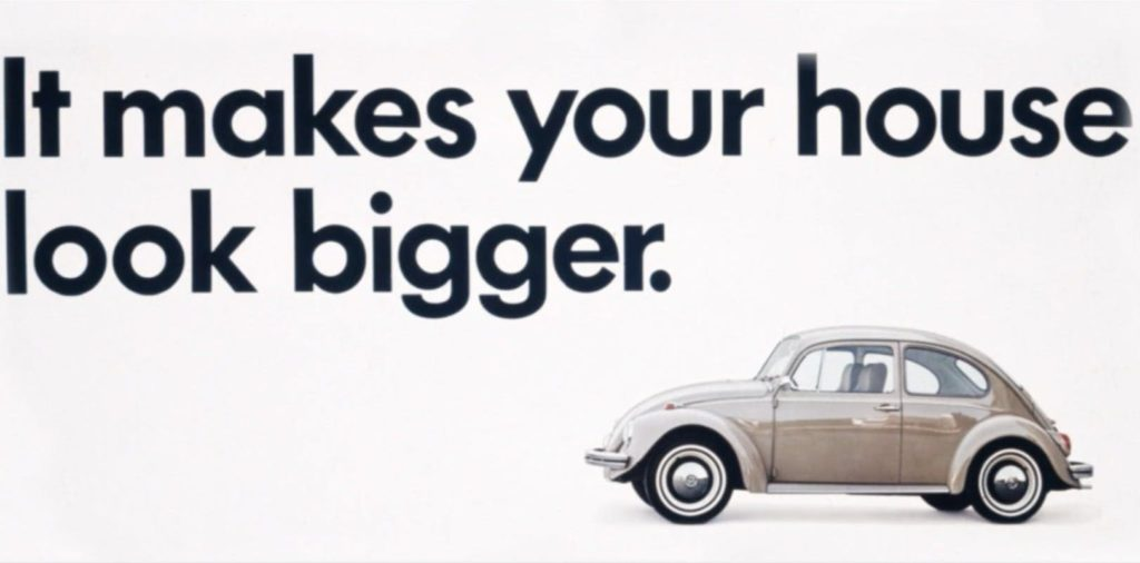 it makes your house look bigger vw ad