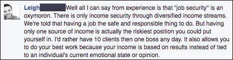 job vs business advice