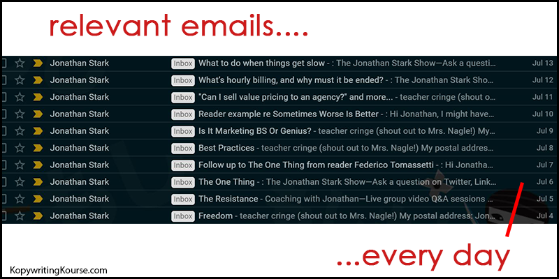 jonathan stark consistently sends emails