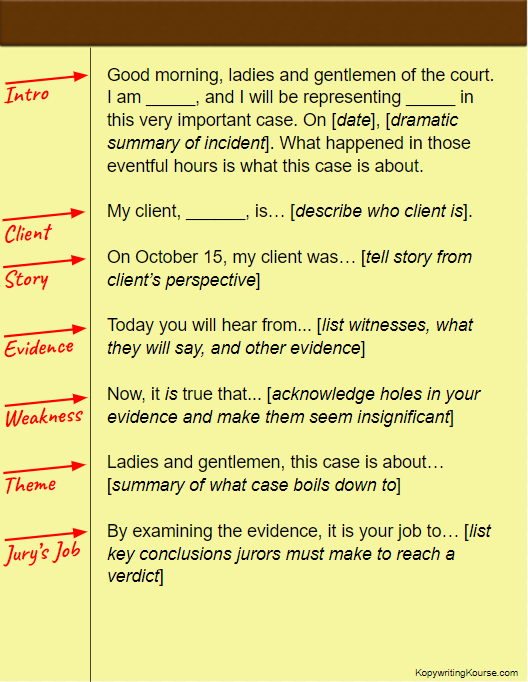 jury's job opening statement