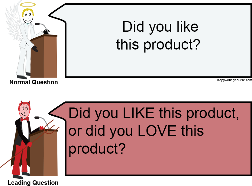 Leading Question for a product